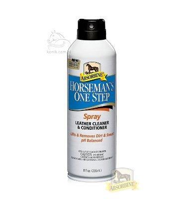 Absorbine® Horseman's One Step Leather Cleaner and Conditioner- środek do czyszczenia i pielęgnacji skóry- spray 236ml