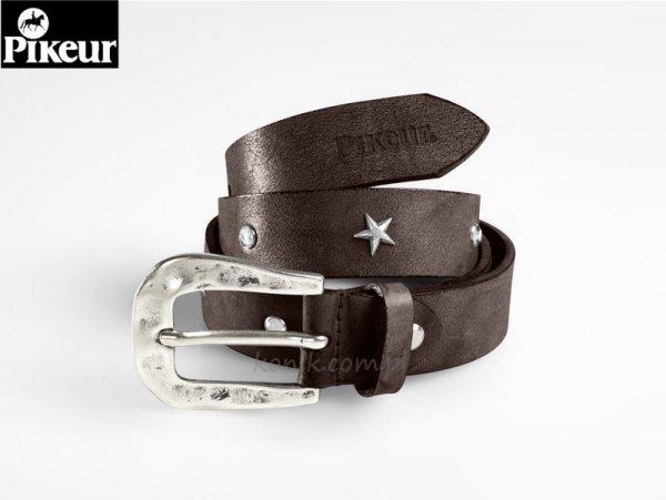 Pasek do spodni skórzany STARS & STRASS brązowy- Pikeur