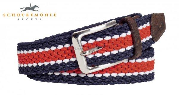 Pasek elastyczny SPORTY chili/ocean/white - Schockemohle
