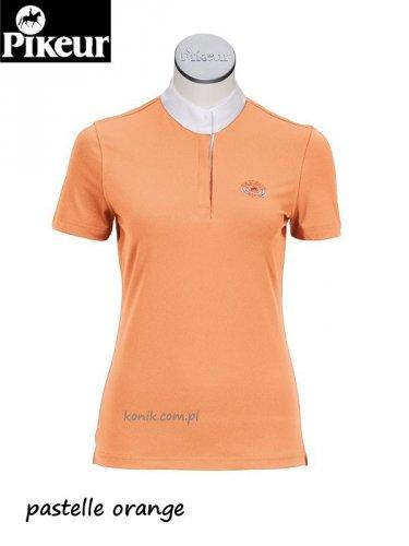 Koszula konkursowa elastyczna PIKEUR junior - pomarańczowa