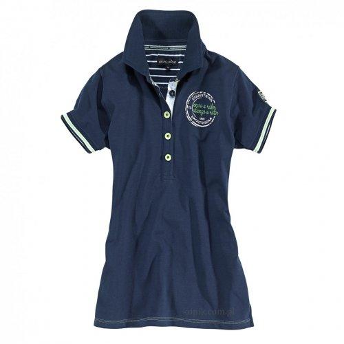 Koszulka damska polo PHILINE navy - Euro-Star