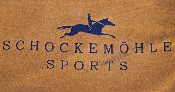 Derka polarowa FIRST CLASS z logo Schockemohle - camel/navy