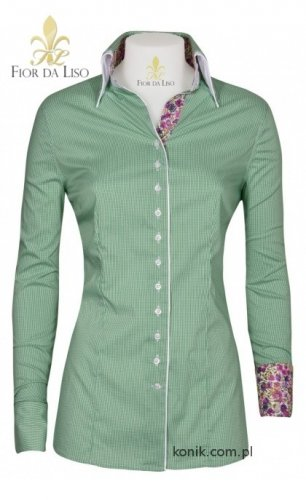 Koszula damska EMANUELA II - FIOR DA LISO - smaragd green check