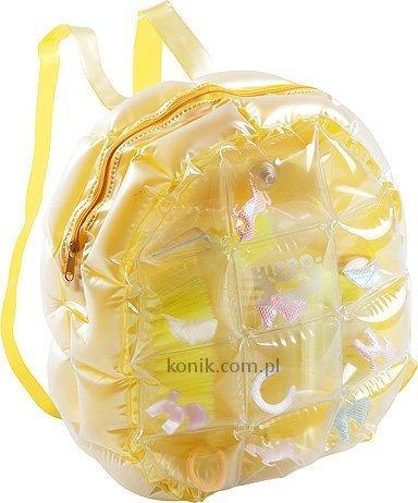 Dmuchany plecak ze szczotkami do czyszczenia konia - HIPPO-TONIC