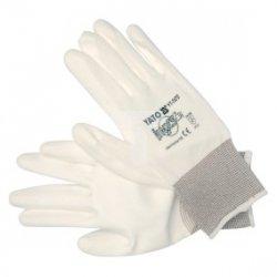 Rękawice robocze białe nylon 10 cala YT-7470