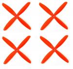 Śmigła DAL QJ5045 - orange - Quad-Blade - 5x4,5x4 - 2xCW/2xCCW - DAL-PROP 4 szt