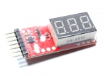 Wskaźnik napięcia LCD 2-6 ogniw LiPo, Pb