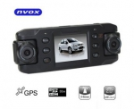 NVOX Podwójna kamera rejestrator trasy DVR GPS