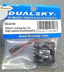 Wentylator bezszczotkowy Dualsky Cooler 30mm V2 high-speed brush