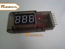 Tester - wskaźnik napięcia pakietów LiPo