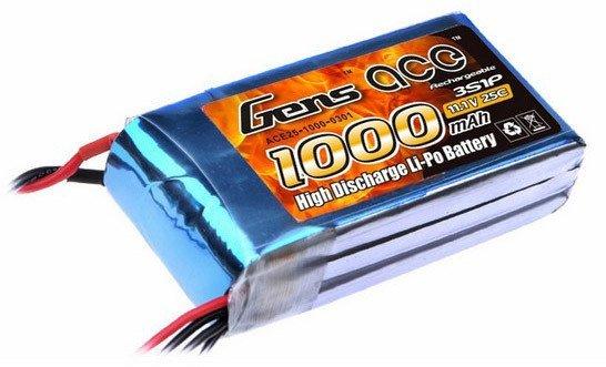 Akumulator Gens Ace 1000mAh 11.1V 25C 3S1P