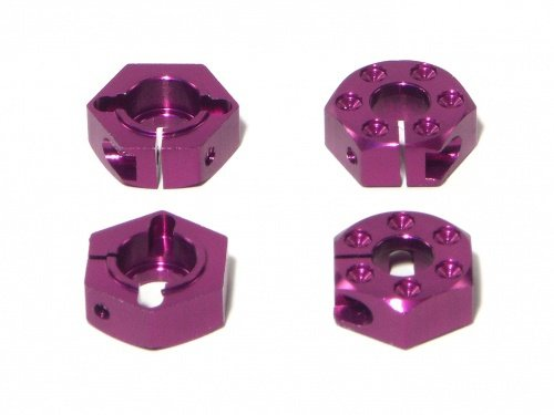 ALUMINIUM HEX WHEEL HUB 14MM/CLAMP TYPE/PURPLE/4