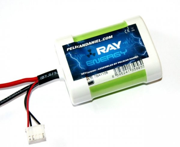 Pakiet Li-Fe RAY Energy A123 2500mAh 2S 6.6V