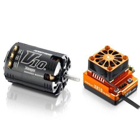 Zestaw napędowy XERUN XR10 Pro Orange + V10 5.5T Hobbywing