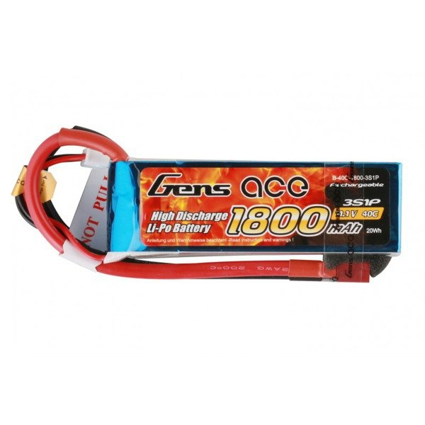 Akumulator Gens Ace 1800mAh 11,1V 40C 3S1P