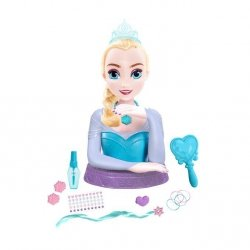 ELSA Głowa do stylizacji Deluxe Frozen Kraina Lodu - Uczyń Elsę jeszcze piękniejszą!