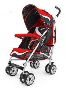Spacerówka Parasolka Milly-Mally RIDER NEW czerwona - komfort i estetyka