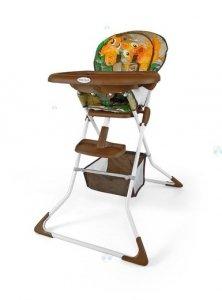 Krzesełko do karmienia MINI JUNGLE - lekkie, małe po złożeniu, łatwe w czyszczeniu