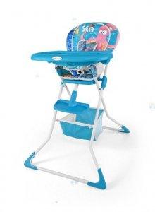Krzesełko do karmienia MINI SEA - lekkie, małe po złożeniu, łatwe w czyszczeniu