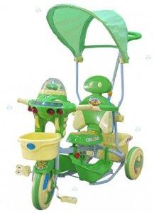 Rowerek trójkołowy 3w1 UFO zielony - moc atrakcji