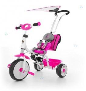 Rowerek trójkołowy BOBY DELUXE różowy - nowoczesny design