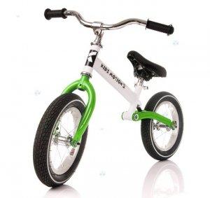 Rowerek biegowy CODY PRO zielony - komfort jazdy
