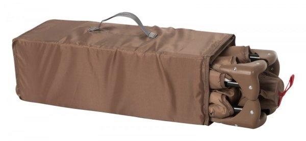 Łóżeczko turystyczne przenośne Happy Traveller BASIC - brązowe