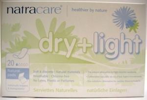 Natracare Podpaski higieniczne dry and light