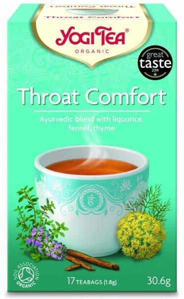 YOGI TEA®  Herbata NA PODRAŻNIONE GARDŁO z lukrecją, koprem włoskim i tymiankiem (Throat Comfort)