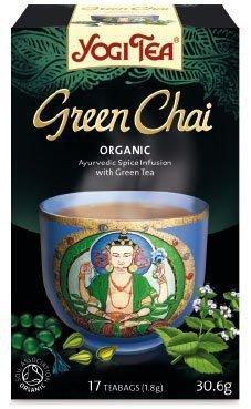 YOGI TEA® Ajurwedyjska herbata korzenna z zieloną herbatą ZIELONY CZAJ (Green Chai)
