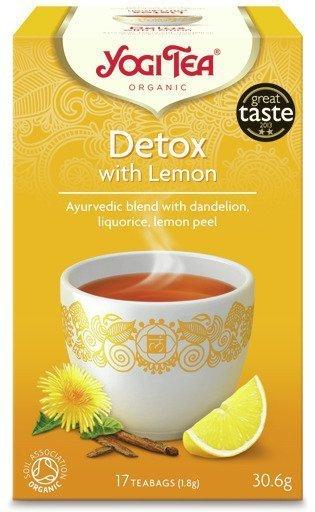 YOGI TEA® Herbata OCZYSZCZAJĄCA z cytryną (Detox with Lemon)