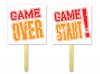 Tabliczki do fotobudek GANE OVER / GAME START
