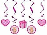 Misiowe świderki różowe 5szt