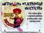 Medal podstawka DLA SUPER NAUCZYCIELKI