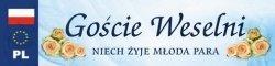 Tablica rejestracyjna ślubna Goście weselni 1szt