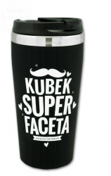 Kubek termiczny BLACK   Kubek Super Faceta 450ml