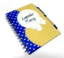 Notatnik kulinarny Zapiski Mamy  + długopis