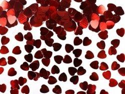 Konfetti metalizowane czerwone serca 5mm KONS14