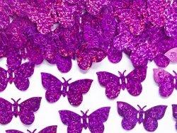 Konfetti holograficzne Motyle różowe 15 g