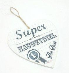 Serce SUPER NAUCZYCIEL  - The best 1szt