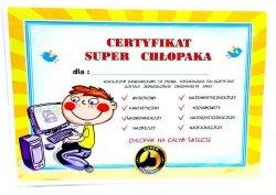 Certyfikat Chłopak  Komputer  - 1szt