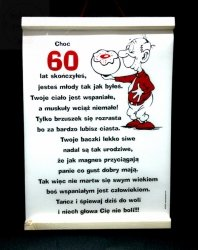 Dyplom pamiątkowy  dla 60-latka