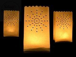 Lampion, torebka na świece słońce 15x9x26cm 1szt
