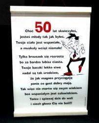 Dyplom pamiątkowy  dla 50-latka