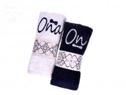 Ręczniki z haftem zestaw ONA, ON 100x50cm