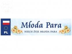 Ślubna tablica rejestracyjna Młoda Para