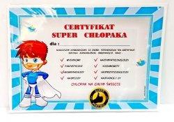 Certyfikat Chłopak  SUPERBOHATER  - 1 szt