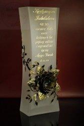 Wazon z metalową różą prezent na DZIEŃ NAUCZYCIELA