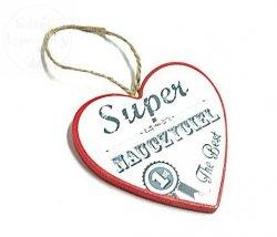 Serce mini  Dla SUPER Nauczyciela - czerwone