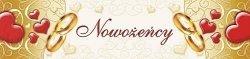 Tablica rejestracyjna ślubna Nowożeńcy 1szt TT70